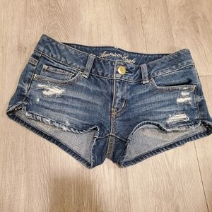 American Eagle distressed shorts with stretch